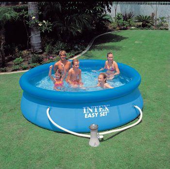 Intex Easy Set zwembad 305 x 76 cm-Met 12-Volt filterpomp