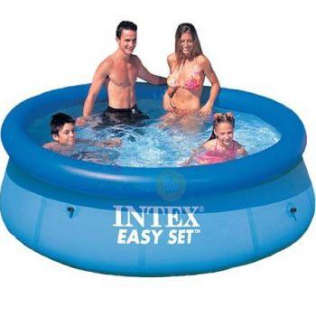 Intex Easy Set zwembad 244 x 76 cm-Met 12-Volt filterpomp