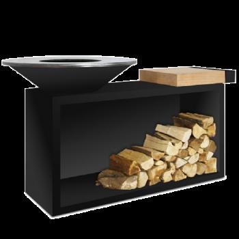ofyr island black 85-100 rubberwood
