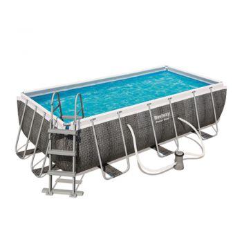 bestway zwembad rotan rechthoek 412